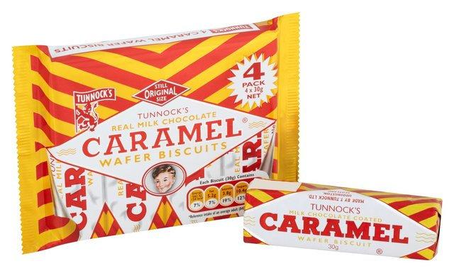 Tunnocks Caramel Wafers 4 x 30g