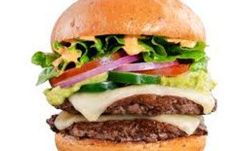 (v) Fallafel & Houmous Burger,Tomato & onion relish chips (THUR-SUN)