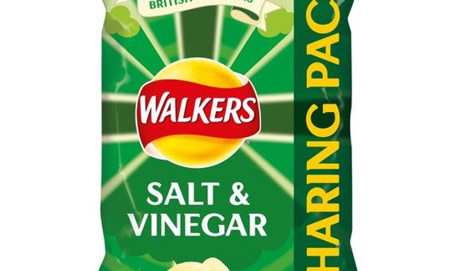 Walkers Crisps Family bag, Salt & Vinegar, 175g