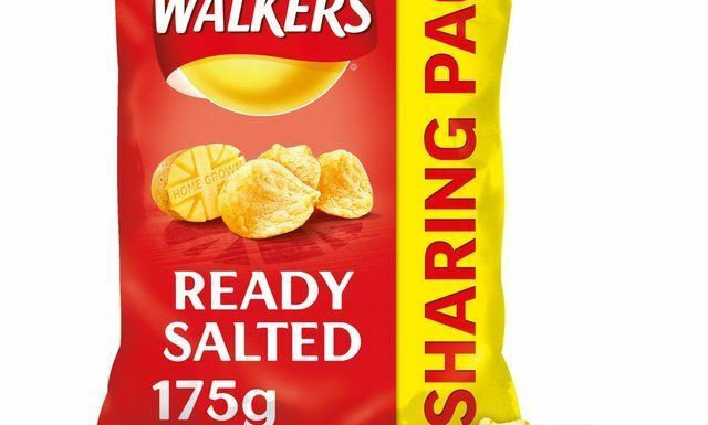 Walkers Crisps Family bag, Ready Salted, 175g