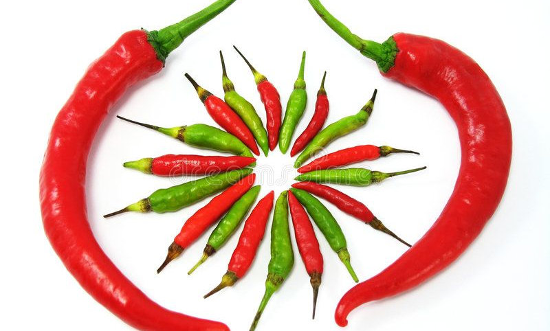 Green & Red Chillis 5pc