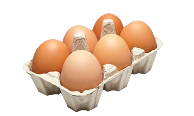 EGGS x 6, Large, Caged