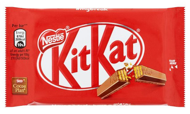 Kit Kat 4 Fingers, milk chocolate