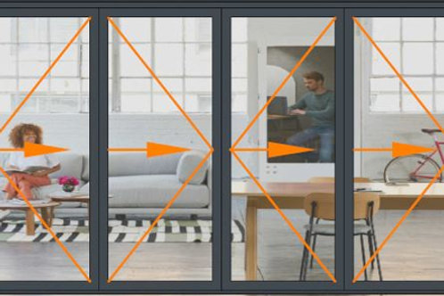 Reynaers CF68 4 Panel Bi-folding Door Set