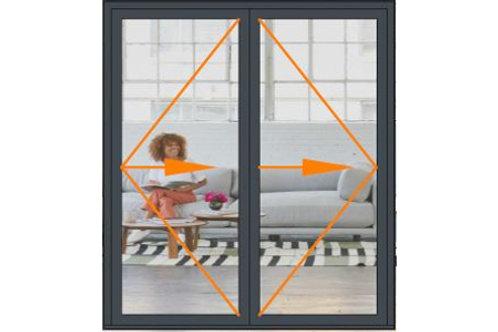 Reynaers CF68 2 Panel Bi-folding Door Set