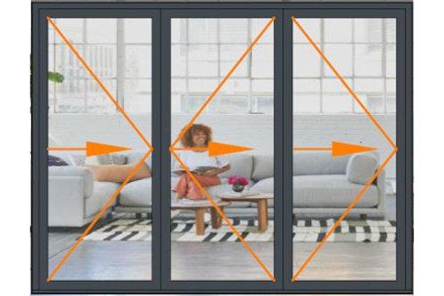 Reynaers CF68 3 Panel Bi-folding Door Set