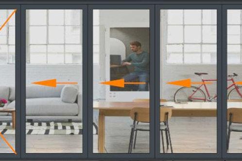 Panoramic 5 Panel Slide and Turn Door Set