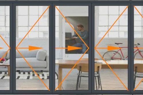 Reynaers CF68 5 Panel Bi-folding Door Set