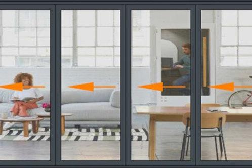 Panoramic 6 Panel Slide and Turn Door Set