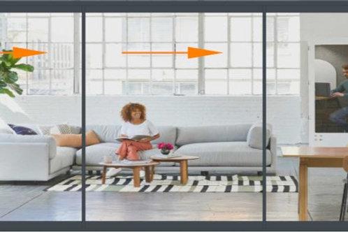 Concept Patio 68 3 Panels Width to 400 Tall Door Set