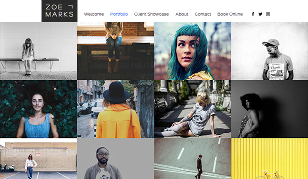 Photography website templates – Urban Photography