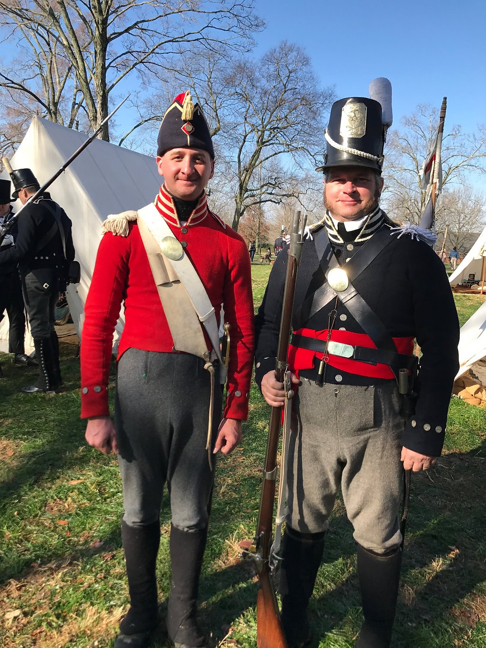 Reenactment Soldiers at Andrew Jackson's Hermitage, 2017, Reenactment of his troops for the  War of 1812 (1814 Creek War Division)
