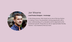 Jon Wearne - Lead Product Designer - Inv