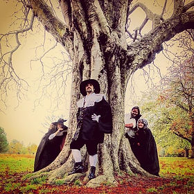 A Witch, a Vampire and a Werewolf walk i