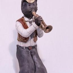 chat trompettiste raku