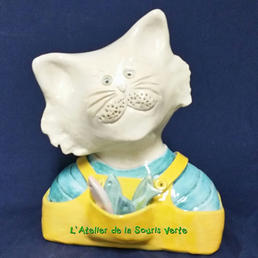 buste chat - salopette jaune - vendu