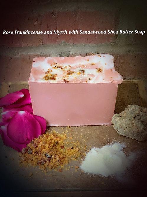 Rose, Frankincense,& Myrrh with Sandalwood Shea Butter Soap
