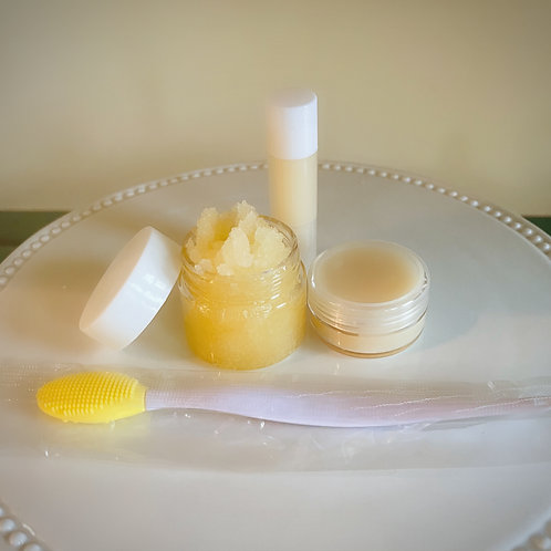 Lemon Drop Lip Balm & Lip Scrub Set
