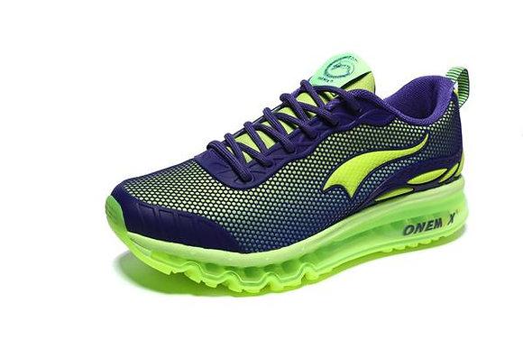 Champion Onemix en flourescente verde purple purpura Aire Running