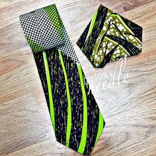 Green Envy Tie & Pocketsquare