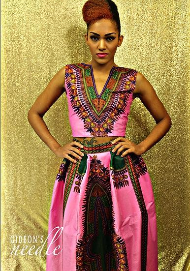 Amenia Dashiki Top & Skirt