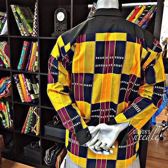 Kente Button-down Shirt