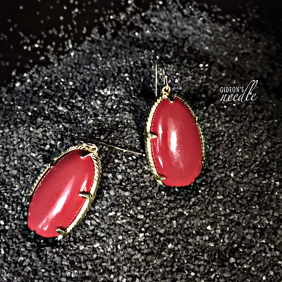 Red Turtle Earrings