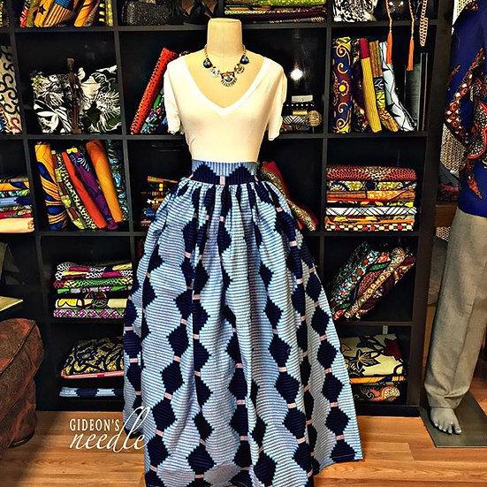 Blue Belle Maxi Skirt