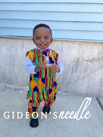 Mini Kente Shirt, Pant & Bowtie