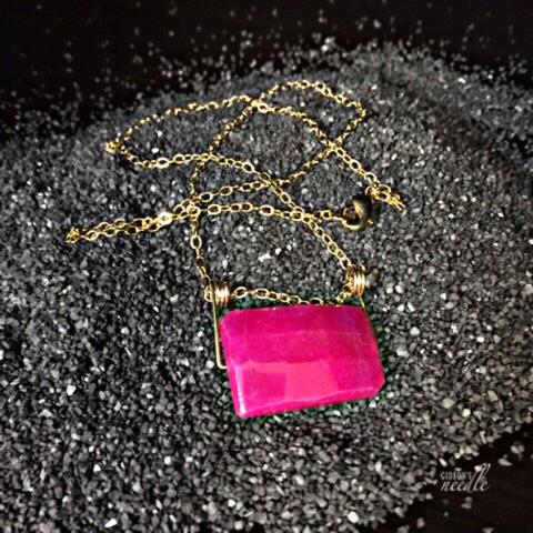 Pink Rock Necklace