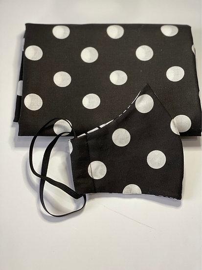 Polka-Dot Facemask + Head wrap