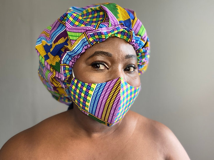 Beredum Kente Bespoke Face Mask