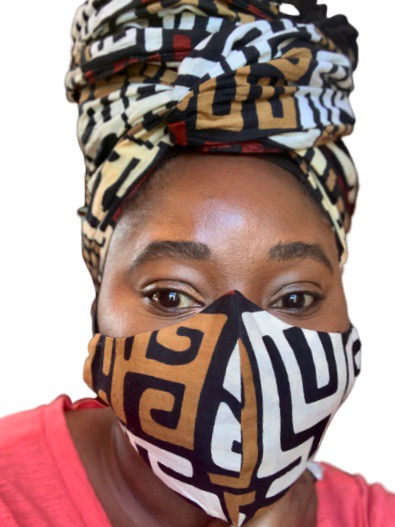 Yetunde Bespoke Face Mask + Head Wrap