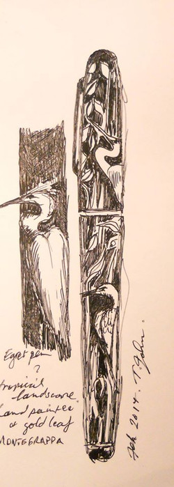 Concept Drawing for White Heron Pens