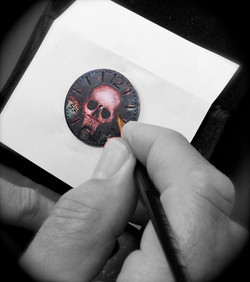 """Hand painting """"skull"""" dial"""