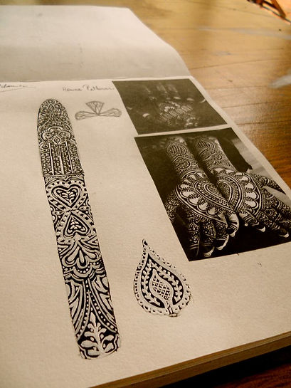 Artist Timothy John designing Fountain Pens.