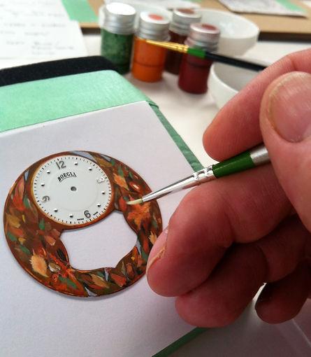 """Hand painting in progress """"Autumn"""""""