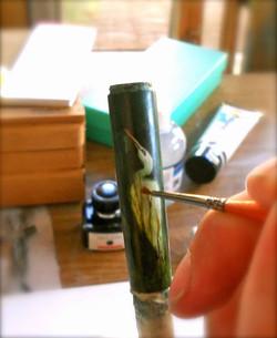 Montegrappa White Heron Pen in progress