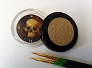 47mm _Skull_ dial oil, gold and bronze l