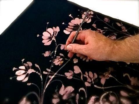 Hand painting fabric