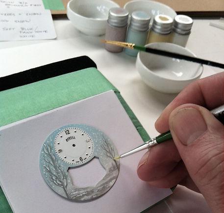 "Hand painting in progress ""Winter"""