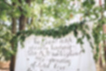 intimate wedding styling ceremony backdrop
