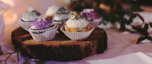 wedding earl grey cupcakes cake