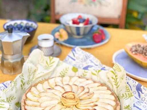Torta cata-vento de maçã da Rita