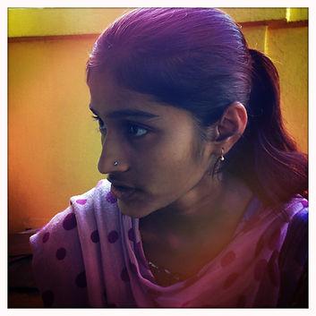 Portrait d'une étudiante d'une école de Calcutta Rescue