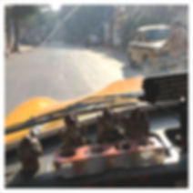 Dans un Taxi à Calcutta