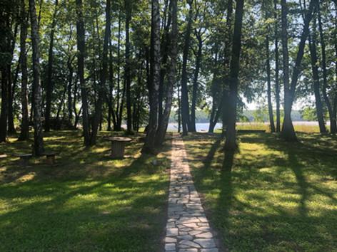 droga nad jezioro