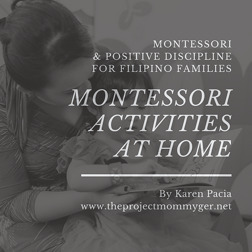 Montessori Activities at Home