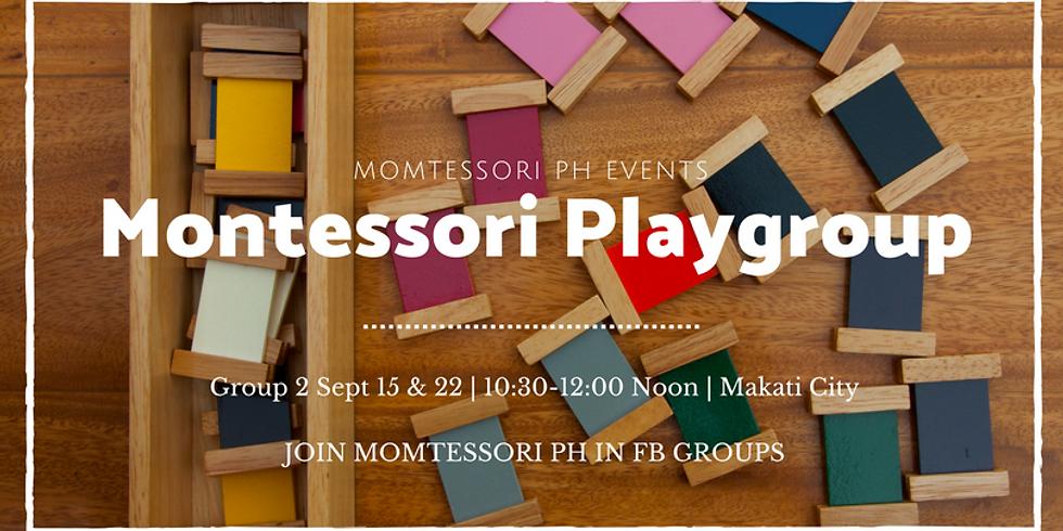Montessori Playgroup (Group 2: Aug 18 & 25)