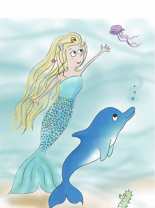 Mermaid and Dolphin
